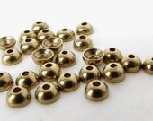 Vintage Brass Bead Caps Tiny Jewelry Findings Dome 4mm bcp0085 (24)