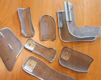 Vintage collection of 7 individual medical metal splints