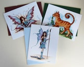 SALE Fairy folded card set by Amy Brown