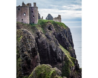 Dunnottar Romance Fine Art Photography Scottish landscape Scotland Ruined Castle Romance Outlander inspired Historic Ancient dreamy fantasy