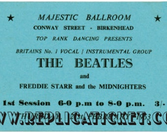 5   1963-1964  BEATLES  tickets scrapbooking paper replicas made in the USA