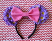 Pick Your Color Bow Purple Daisy Minnie Ears