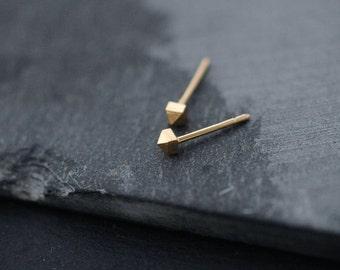 Mini miniature studded Silver or Vermeil pyramid studs