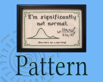 Significantly Not Normal Cross-Stitch Pattern (Shapiro Wilk Test)