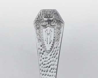 Silverware Key Chain Spoon Key Ring Spoon Handle Key Chain Heraldic Pattern with H Monogram