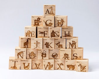 Maple Alphabet Blocks
