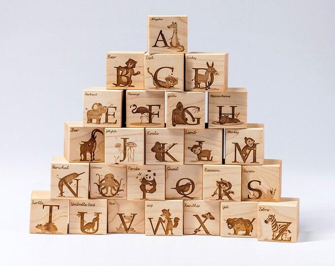 Featured listing image: Maple Alphabet Blocks