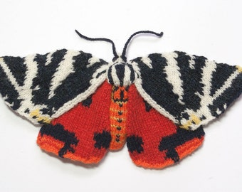 Knitted Jersey Tiger Moth - Greeting Card