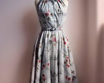1950's dress halter peter pan collar circle skirt dress made from original pattern All Sizes