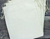 Set of 6 Jumbo 10 x 12 Premium Muslin Drawstring Bags for Favors, Weddings, Parties, or Gifts