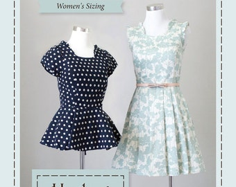 Violette Field Threads Sewing Pattern Harlow Women's Sizing Dress and Top