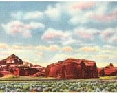 Vintage New Mexico Postcard - Red Rocks along Route 66, near Gallup (Unused)
