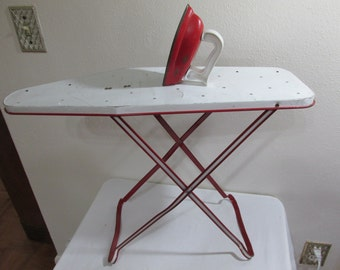 Toy Ironing Board and Toy Iron Metal