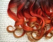 """the P U M P K I N . S P I C E  pumpkin spice 100 percent human hair Full Set clip in extensions 14/16"""" brown red orange ginger peach coral"""
