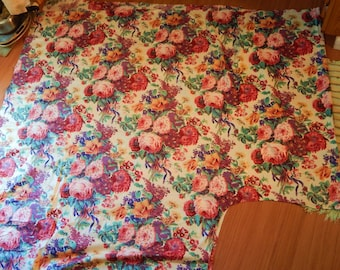 Vintage Upholstery Fabric Old Curtains polished cotton tablecloth