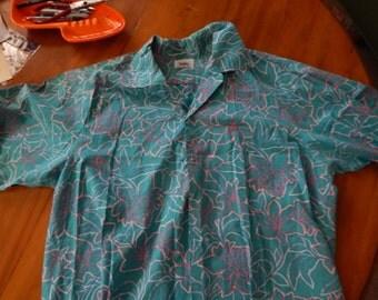 Vintage HOKU  Mens Shirt Hawaiian Reverse Print large size 2xl