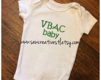 VBAC baby onesie short sleeves