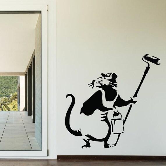 Banksy wall decals lookup beforebuying for Banksy rat mural