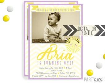 Sunshine Birthday Invitation | Digital or Printed |  Sunshine Party | Sunshine Invite |  Sunshine Invite | You Are My Sunshine Party