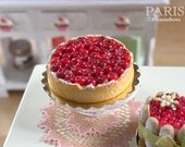 Cherry Tart - Tarte aux Cerises - French Pastry - Miniature Food in 12th Scale for Dollhouse