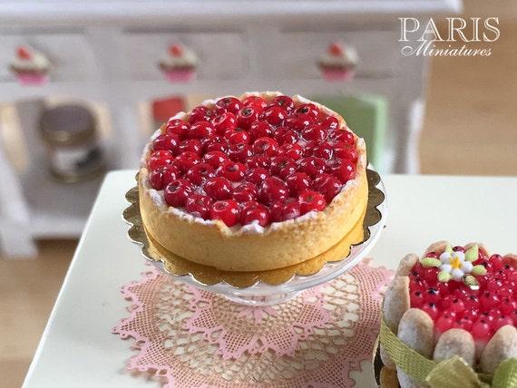 cherry tart tarte aux cerises made to order miniature. Black Bedroom Furniture Sets. Home Design Ideas