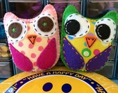 CREATE YOUR OWN Squeaky Hello Hootling Eco Felt Owl Plush Toy Baby Owls