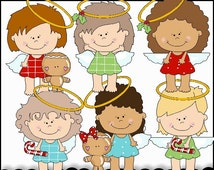 Christmas Angels Clipart Collection - Immediate Download