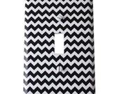 Decor Doodles™ #P3 Black Chevron light switch cover outlet cover Bedroom decoration kitchen decor Custom light switch plate