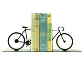 Split Bicycle Metal Art Bookends - Free USA Shipping