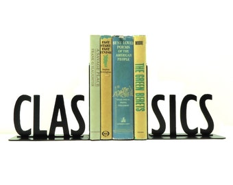 Classics Metal Art Bookends - Free USA Shipping
