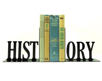 History Metal Art Bookends - Free USA Shipping