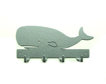Whale Metal Art Key Rack - Free USA Shipping