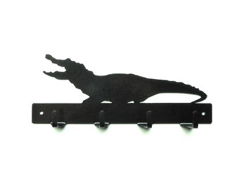 Alligator Metal Art Key Rack - Free USA Shipping