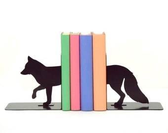 Fox Metal Art Bookends - Free USA Shipping