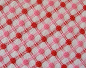 Pink and Raspberry Bates Woven Pops Vintage Chenille Bedspread Fabric 12 x 24 Inches