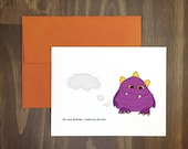 fart birthday card / for your birthday i made you this fart / poop humor / stinky greeting / fart inside then seal envelope / blank inside