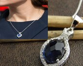 Kate Sapphire Necklace - Duchess Necklace - Royal and Celebrity Jewelry