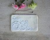 bridal clutch purse hydrangea Clutch white Bridal Clutch, Formal Clutch Bag, wedding clutch, woodland wedding, winter bride, frosty wedding