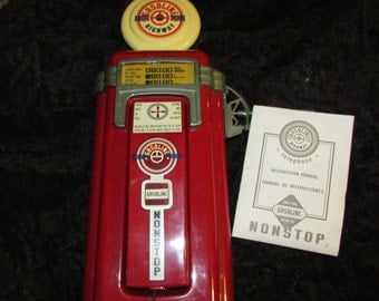 Fun Vintage GASOLINE PUMP wall Telephone with Booklet