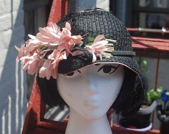 Vintage 1930s Floral Summer Tennis Visor Hat