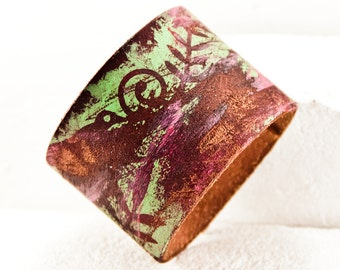 Summer Jewelry - Leather Accessories -Unique Cuffs Leather Bracelets - Gypsy Boho - Women's Wristbands