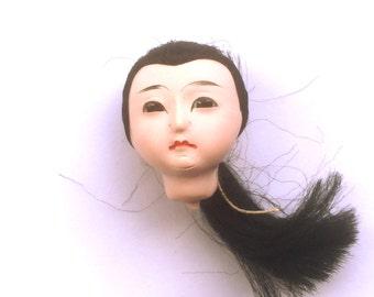 Japanese Doll Head - Vintage Doll Head -  Girl Doll Head - Small Doll Head - Woman Doll Head #1-1 Small Size