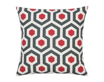 RED Pillow Cover.Decorator Pillow Cover.Home Decor.Large Print.MAGNA.Cushions. Cushion.Pillow. Premier Prints