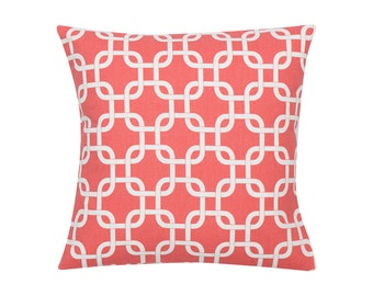 CORAL Pillow Cover.Decorator Pillow Cover.Home Decor.Large Print.GOTCHA.Cushions. Cushion.Pillow. Premier Prints