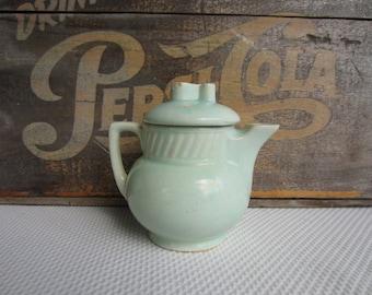 Vintage Salada Ceramic Pottery Teapot Aqua Blue