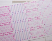 16 Half Box Planner Stickers Scrapbook Stickers Pink Princess Stickers Perfect Fit in Erin Condren PS153A