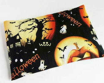 Halloween Haunted House  Microwaveable Heating Pad Spooky Gift for kids, Use to warm toes, as a Bed Warmer, Cold hands, Pet Warming