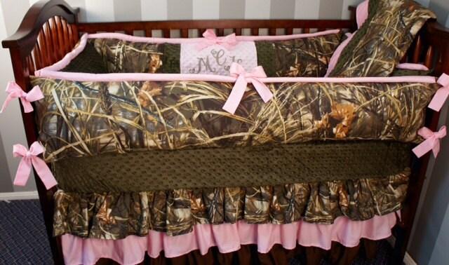 Custom Made Baby Crib Bedding Realtree Advantage Max4/max 5