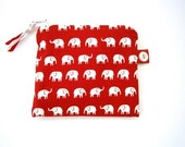 HALF PRICE SALE Elephants Coin  Purse