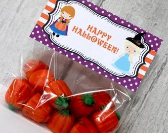 Frozen Inspired Halloween Bag Topper, INSTANT DOWNLOAD